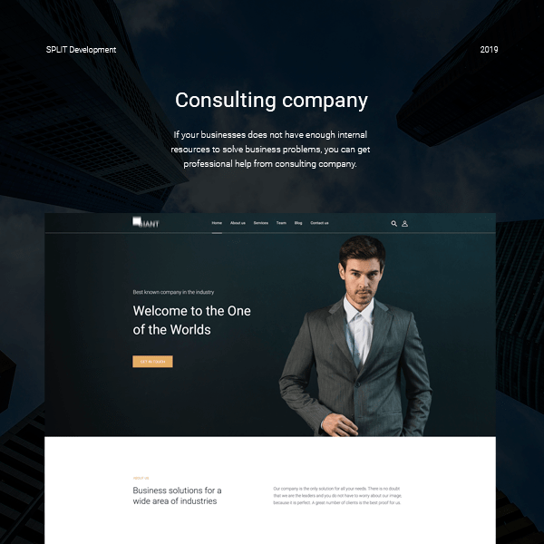 Consulting company website design