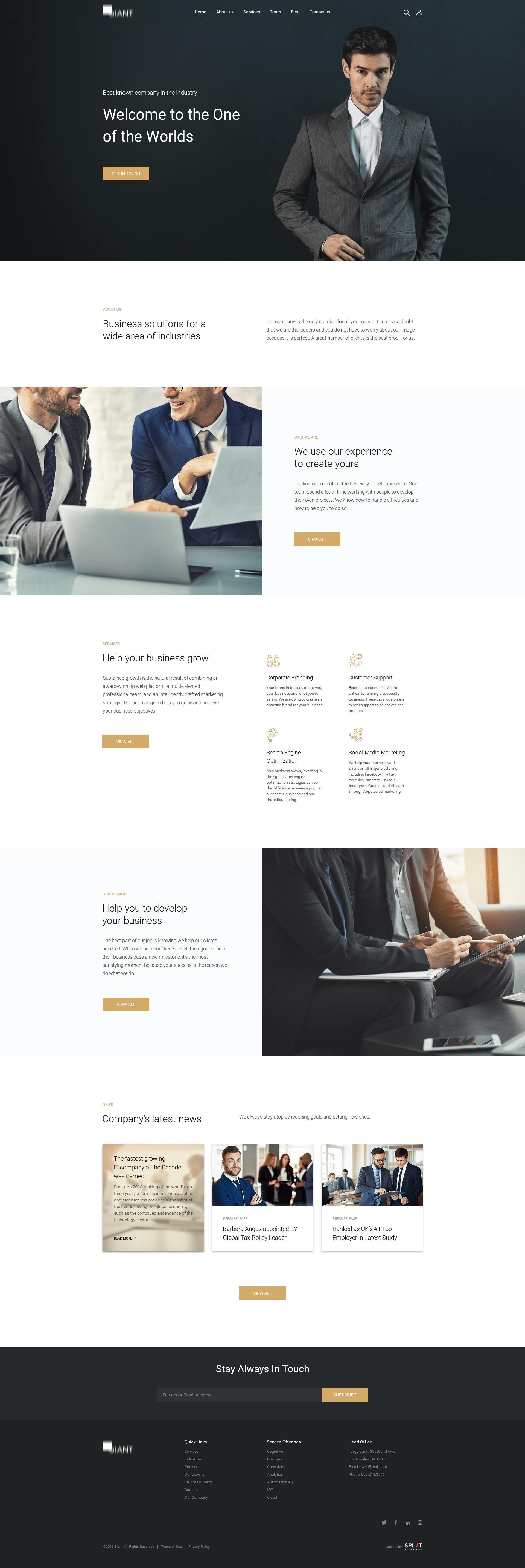 Consulting company design
