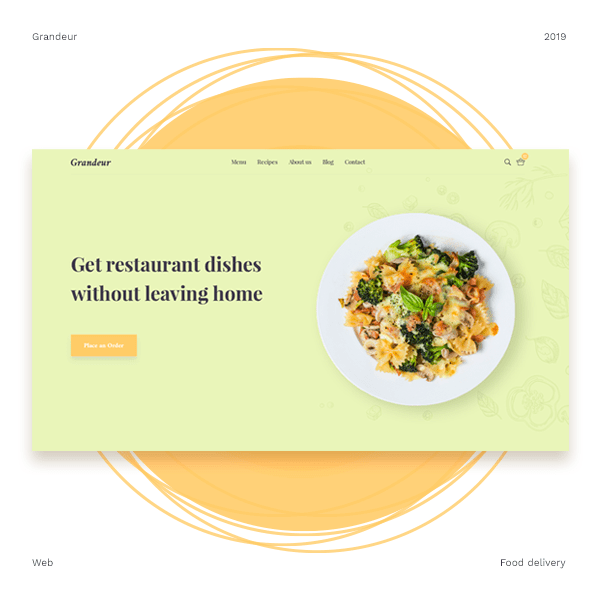 Food delivery service's artboard