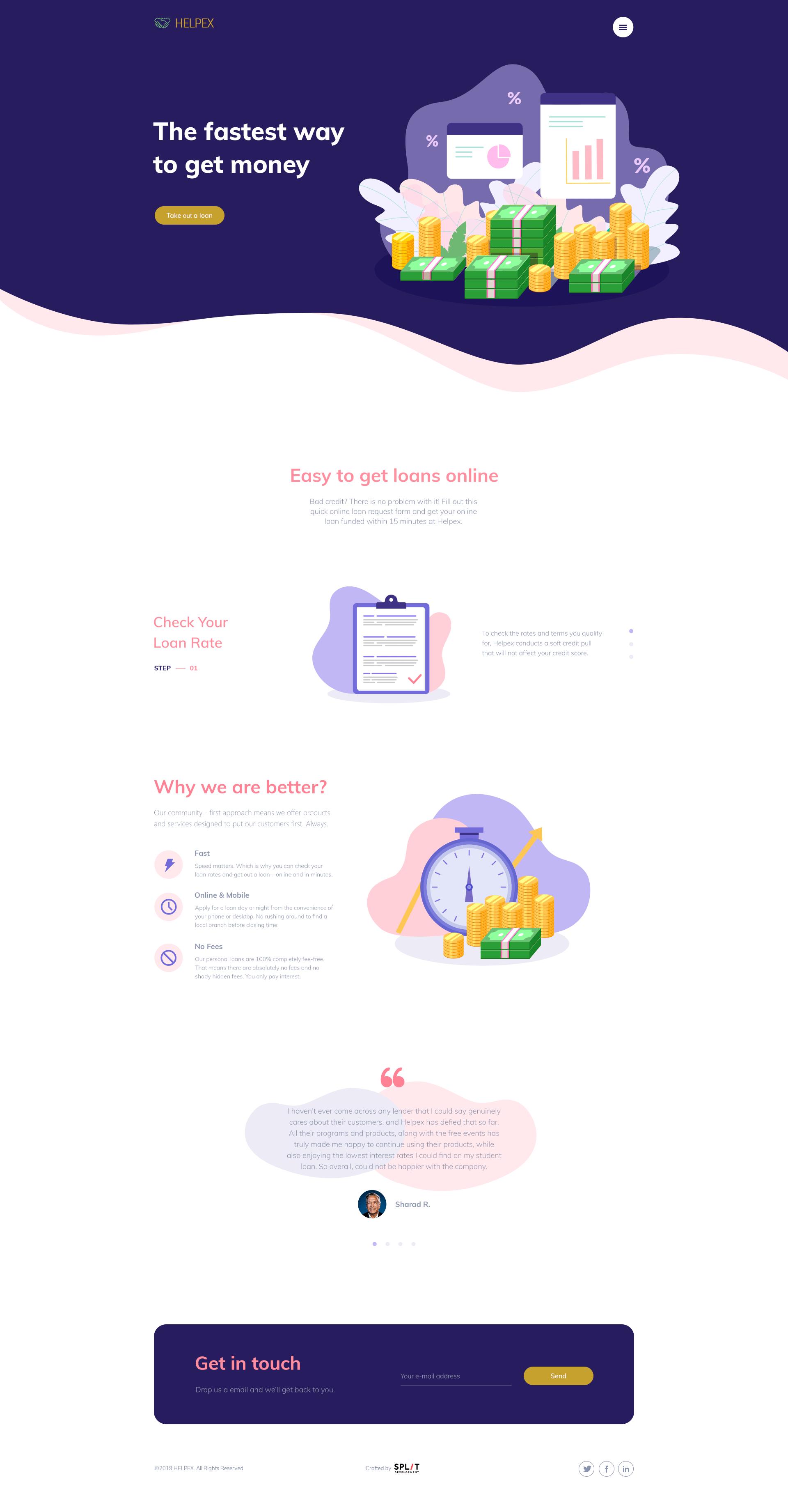 Loan service website design